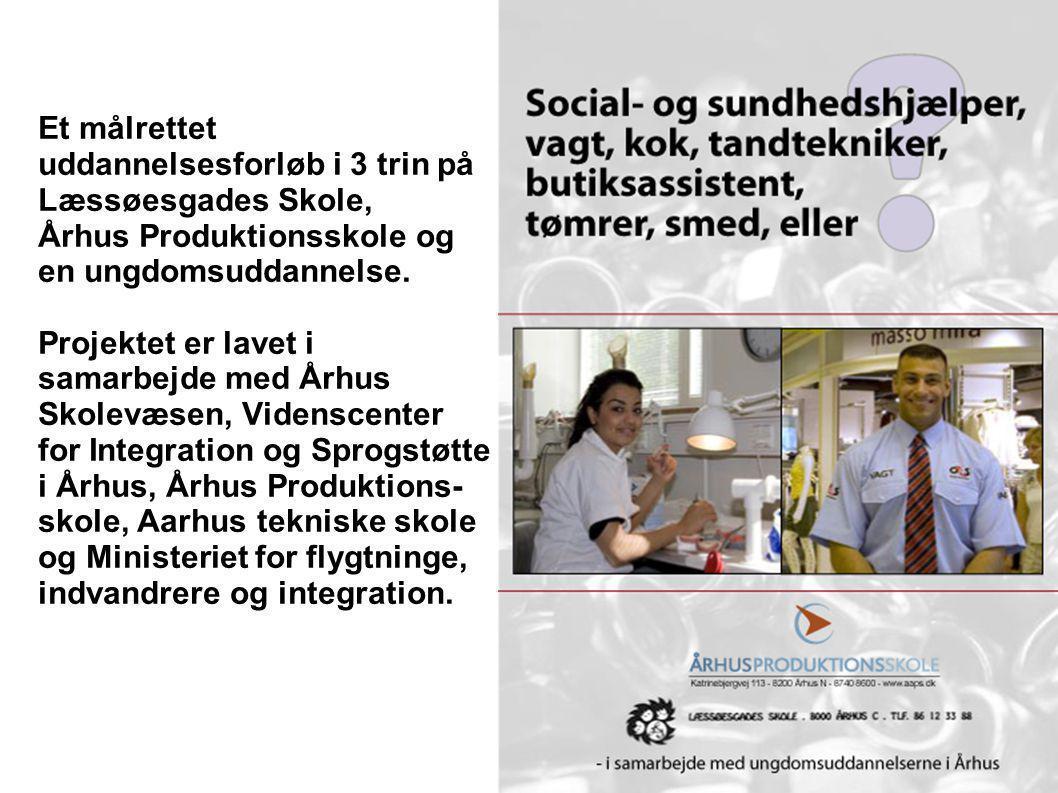 Et målrettet uddannelsesforløb i 3 trin på Læssøesgades Skole, Århus Produktionsskole og en ungdomsuddannelse.