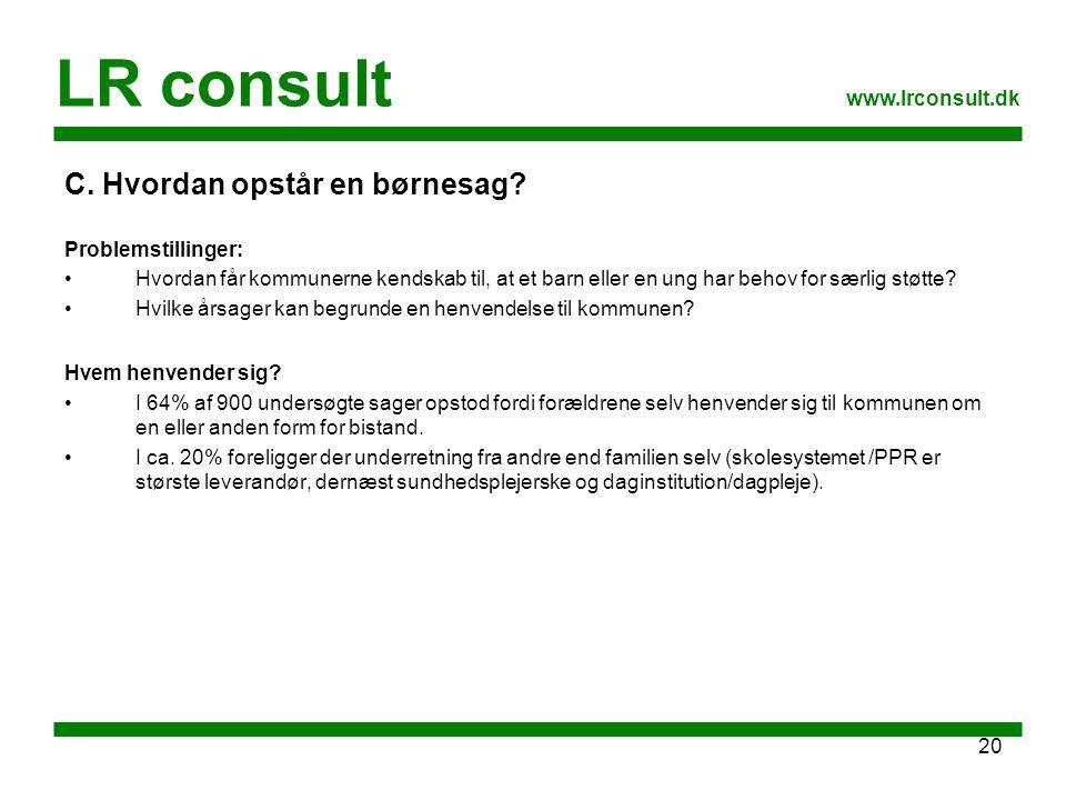 LR consult C. Hvordan opstår en børnesag www.lrconsult.dk