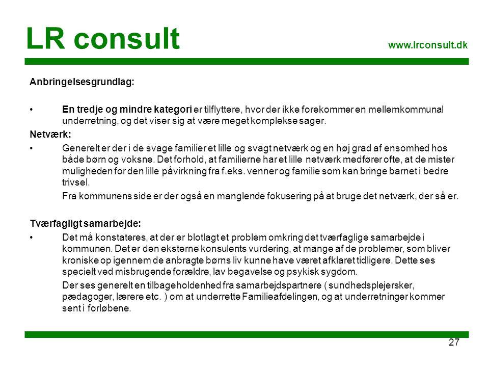 LR consult www.lrconsult.dk Anbringelsesgrundlag: