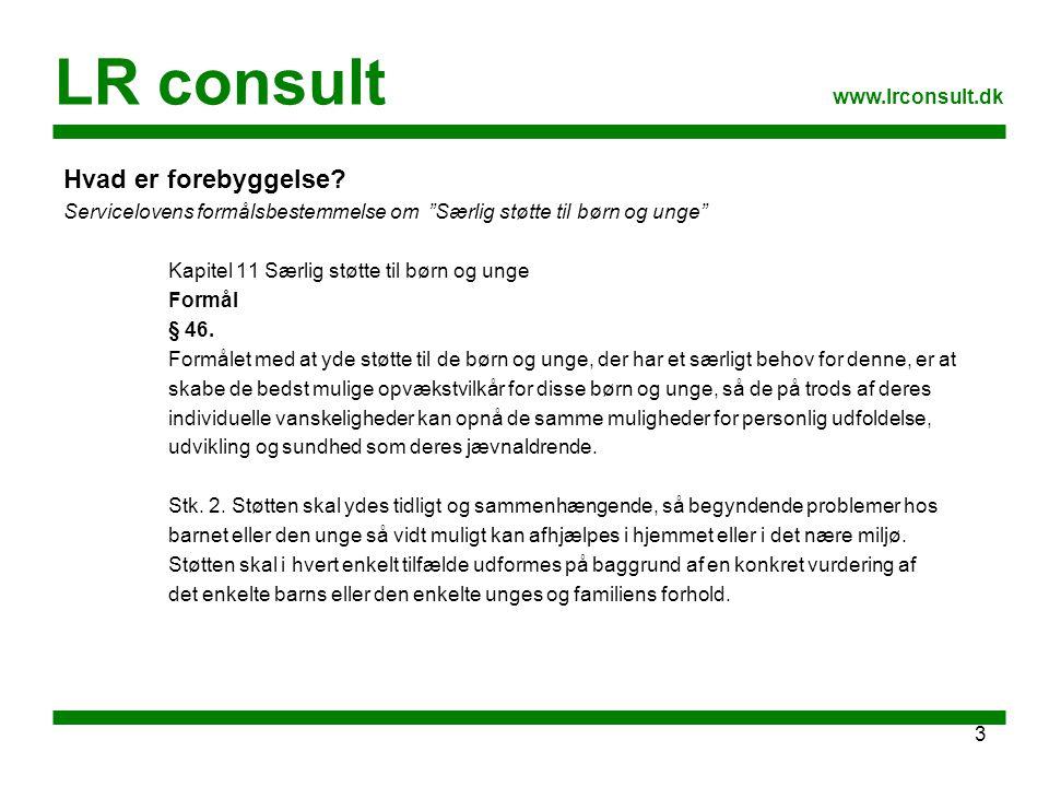LR consult Hvad er forebyggelse www.lrconsult.dk