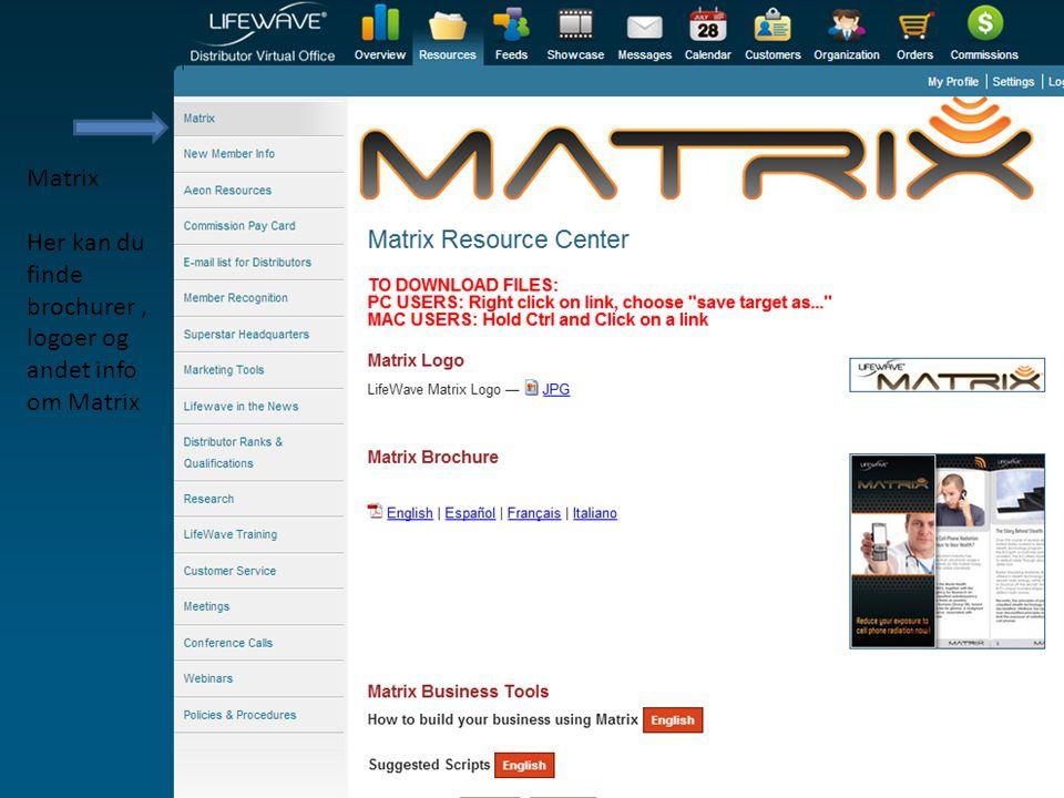 Matrix Her kan du finde brochurer , logoer og andet info om Matrix