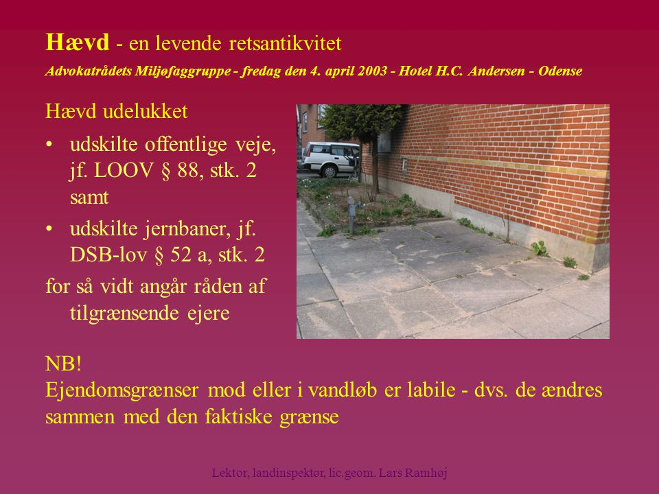 Lektor, landinspektør, lic.geom. Lars Ramhøj