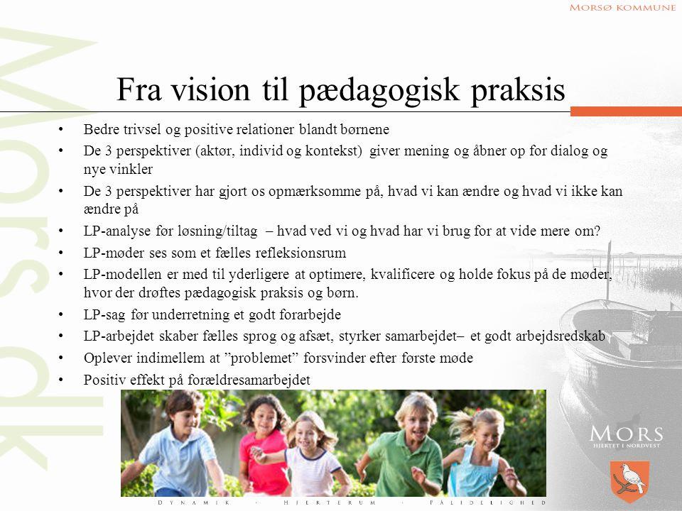 Fra vision til pædagogisk praksis