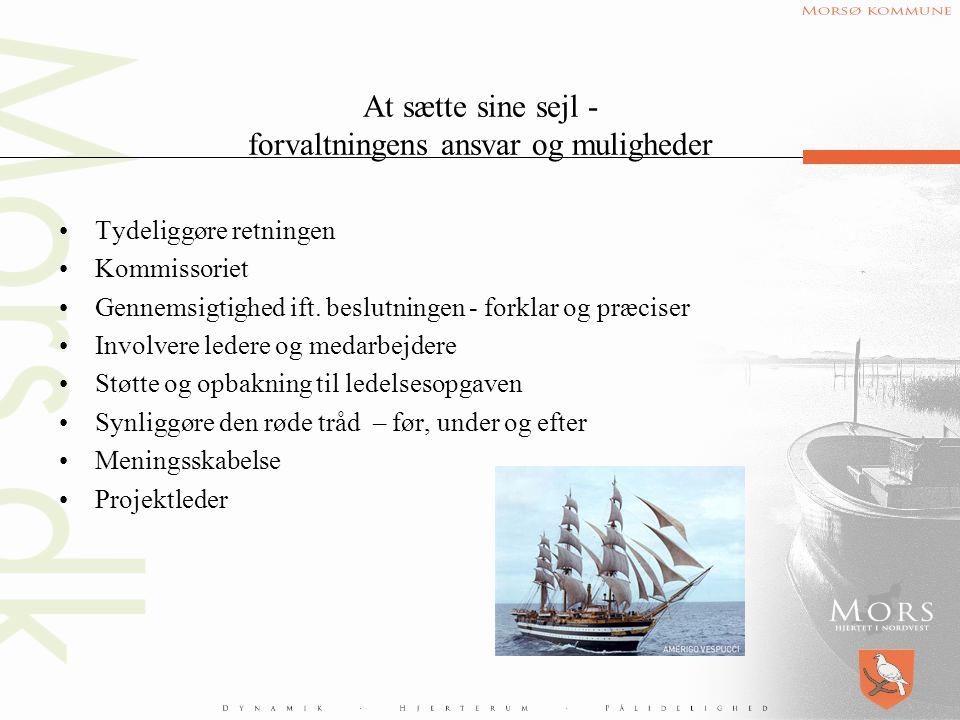 At sætte sine sejl - forvaltningens ansvar og muligheder