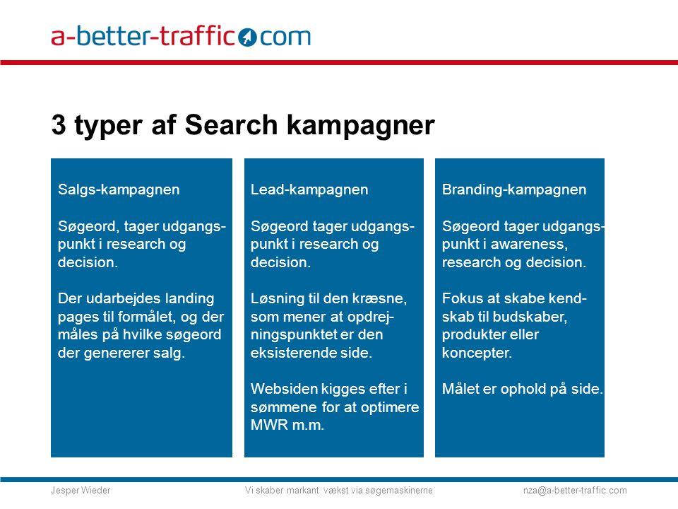 3 typer af Search kampagner