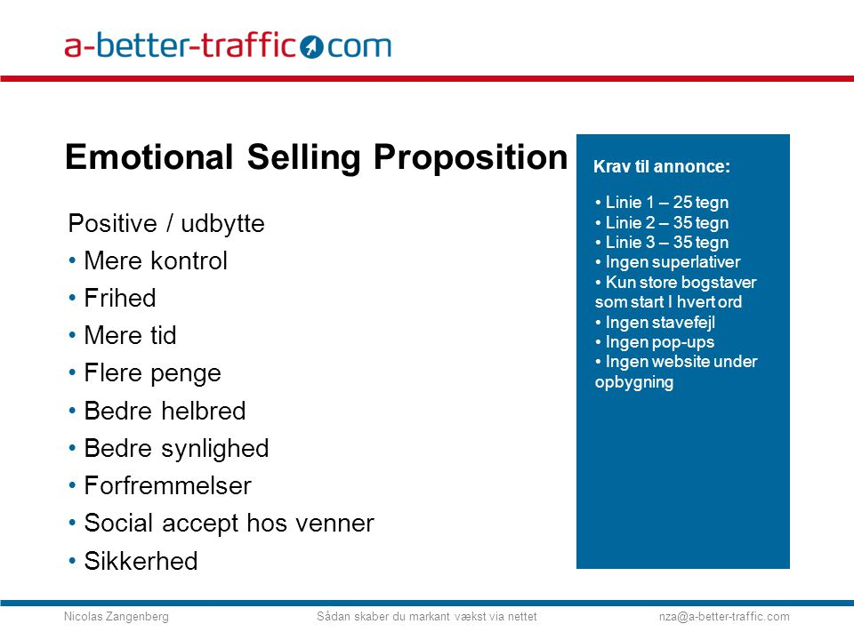 Emotional Selling Proposition