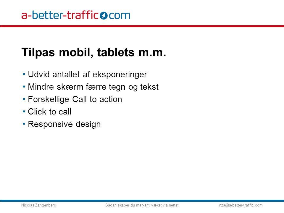 Tilpas mobil, tablets m.m.