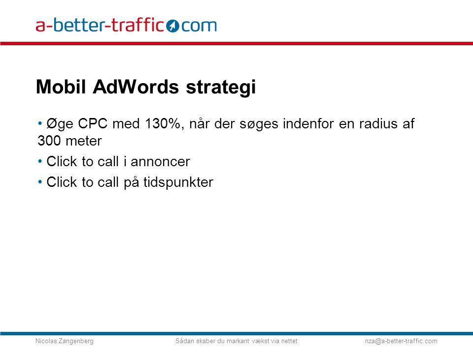 Mobil AdWords strategi
