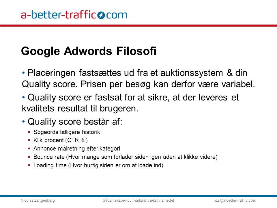 Google Adwords Filosofi