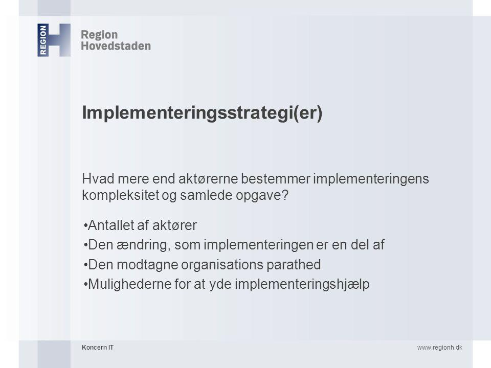 Implementeringsstrategi(er)