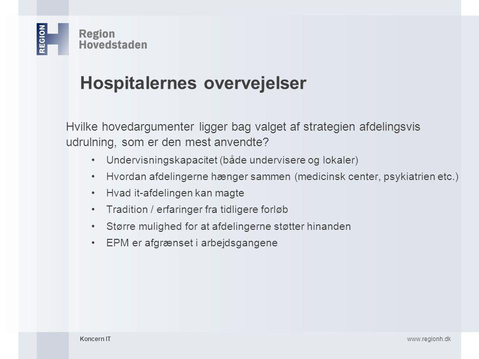 Hospitalernes overvejelser