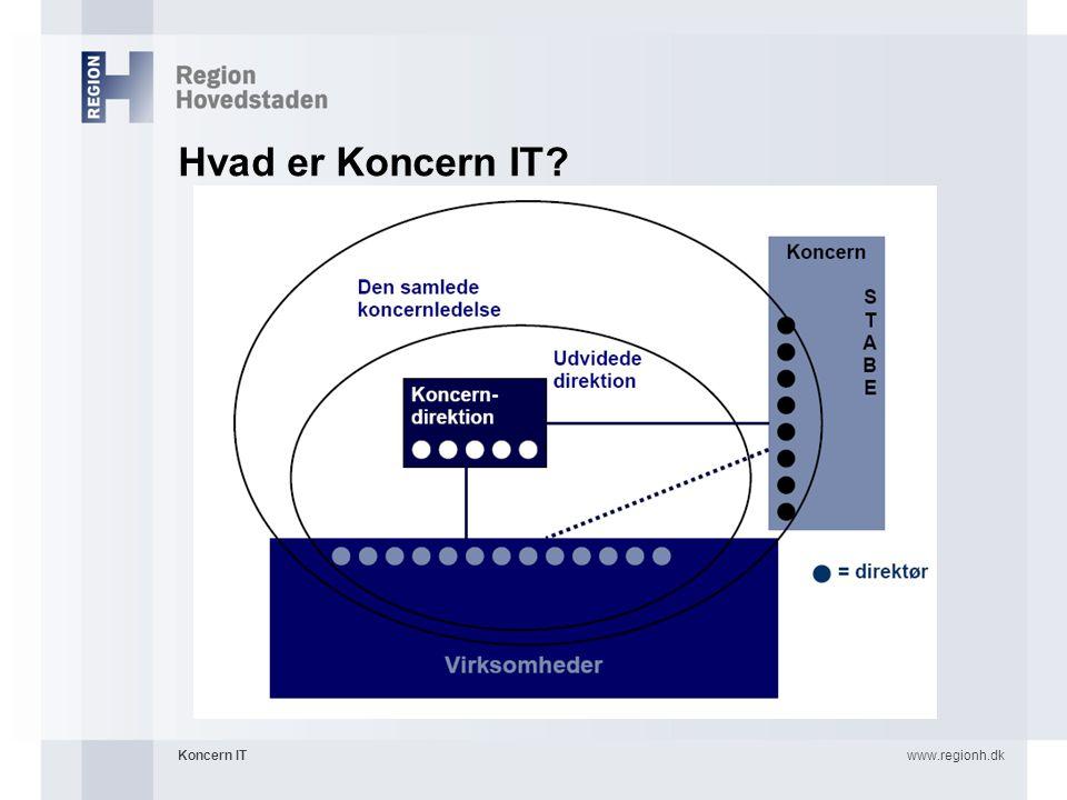Hvad er Koncern IT Koncern IT www.regionh.dk 4