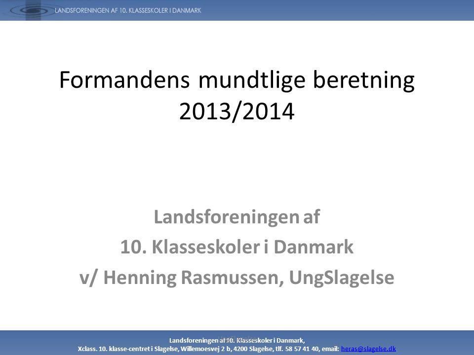 Formandens mundtlige beretning 2013/2014