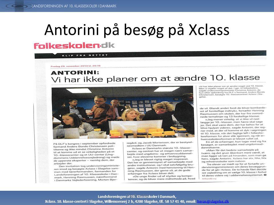 Antorini på besøg på Xclass