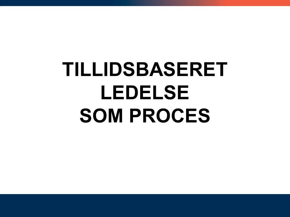 TILLIDSBASERET LEDELSE SOM PROCES