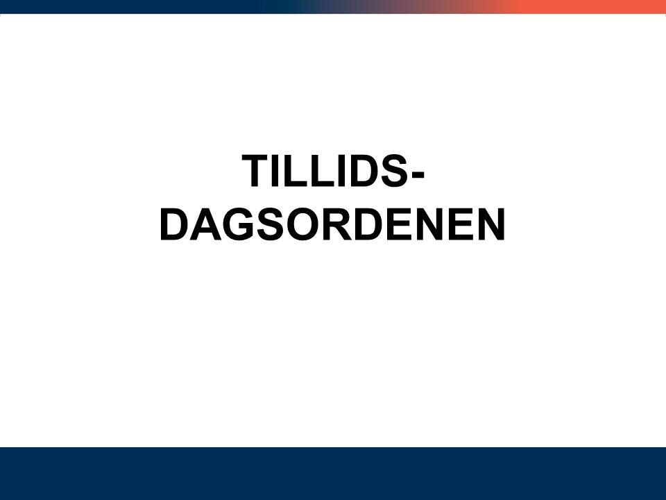 TILLIDS- DAGSORDENEN