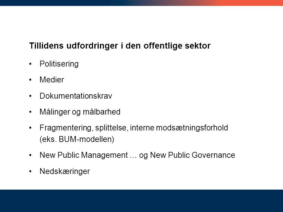 Tillidens udfordringer i den offentlige sektor