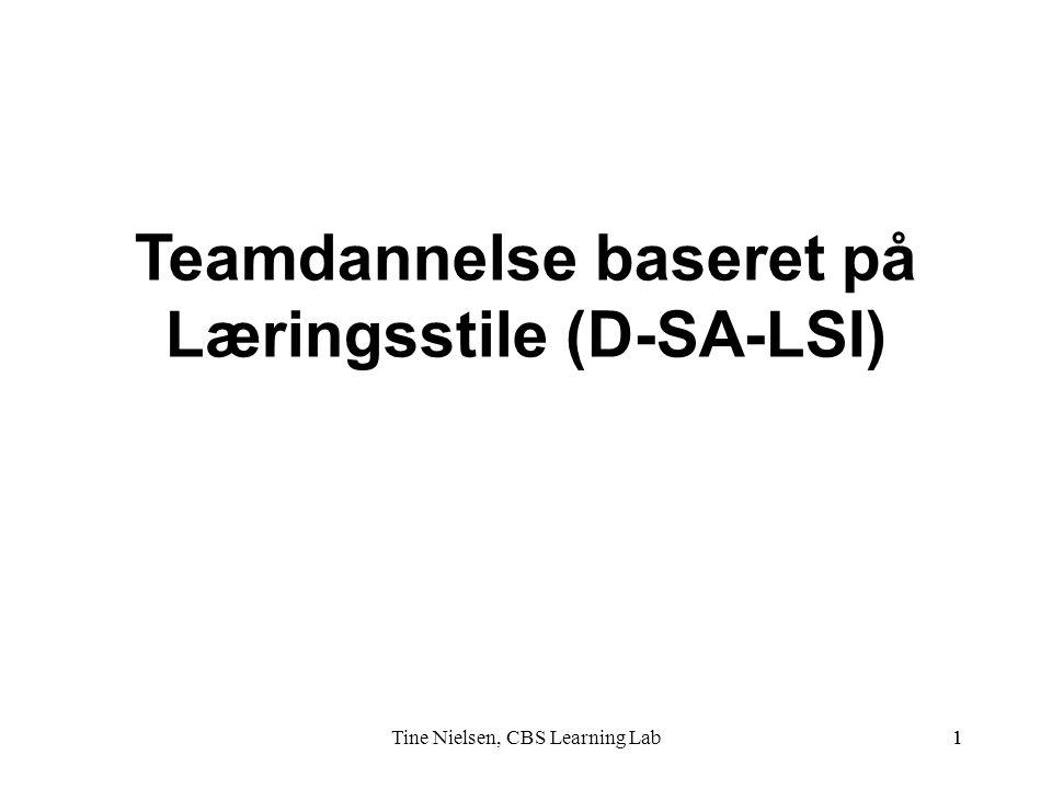 Teamdannelse baseret på Læringsstile (D-SA-LSI)