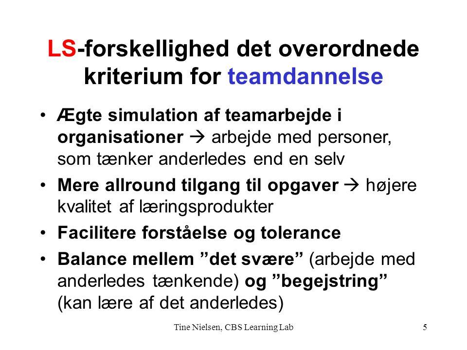LS-forskellighed det overordnede kriterium for teamdannelse
