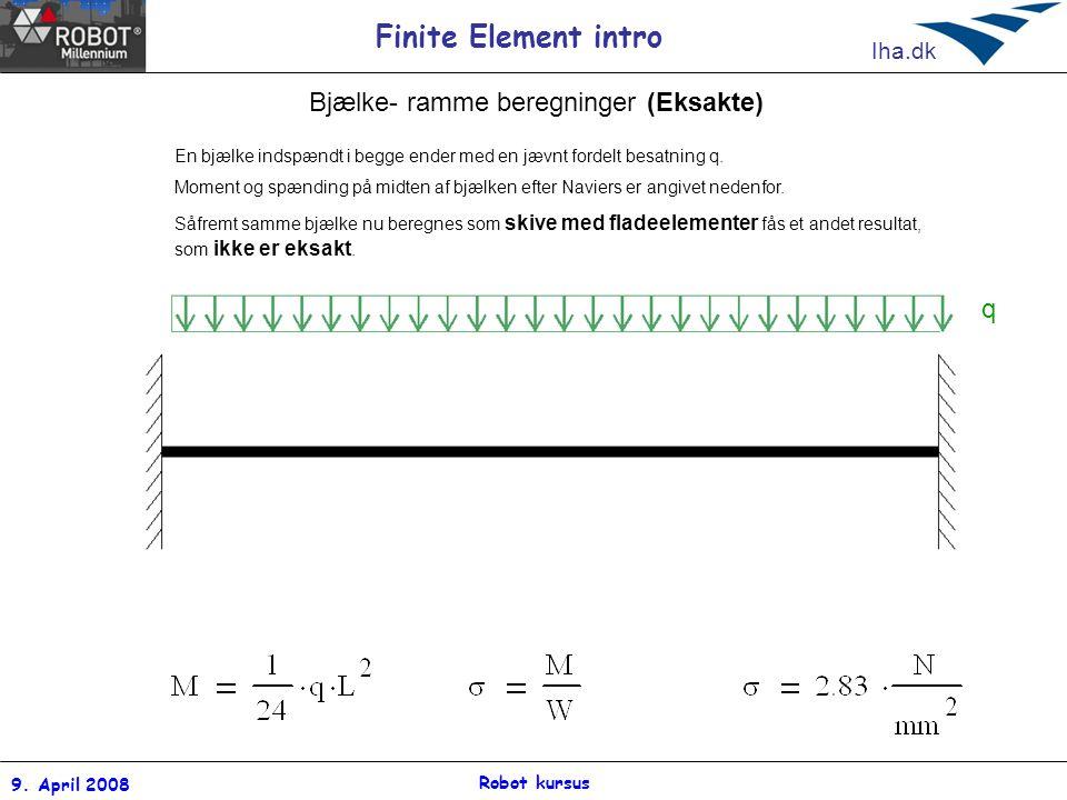 Bjælke- ramme beregninger (Eksakte)