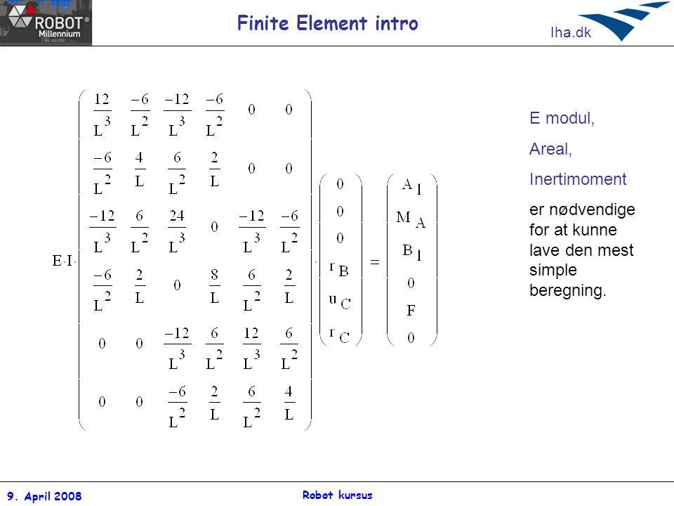 er nødvendige for at kunne lave den mest simple beregning.