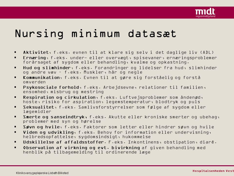 Nursing minimum datasæt