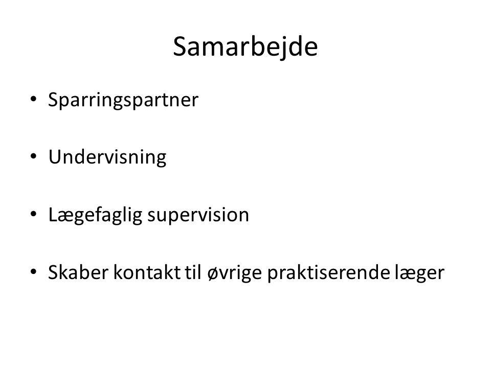 Samarbejde Sparringspartner Undervisning Lægefaglig supervision
