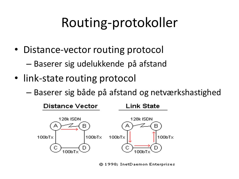 Routing-protokoller Distance-vector routing protocol