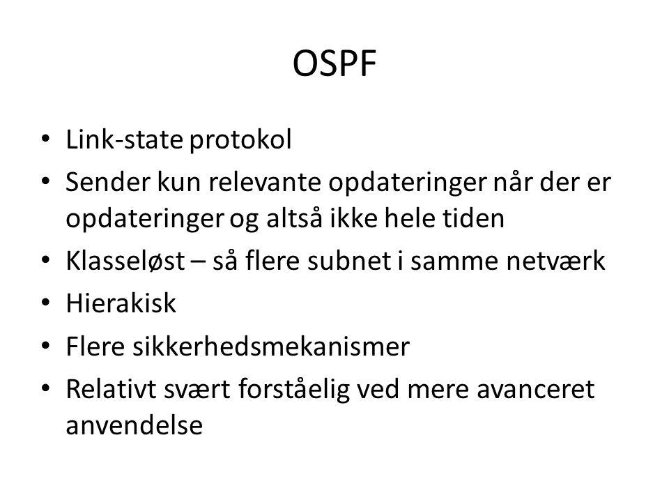 OSPF Link-state protokol