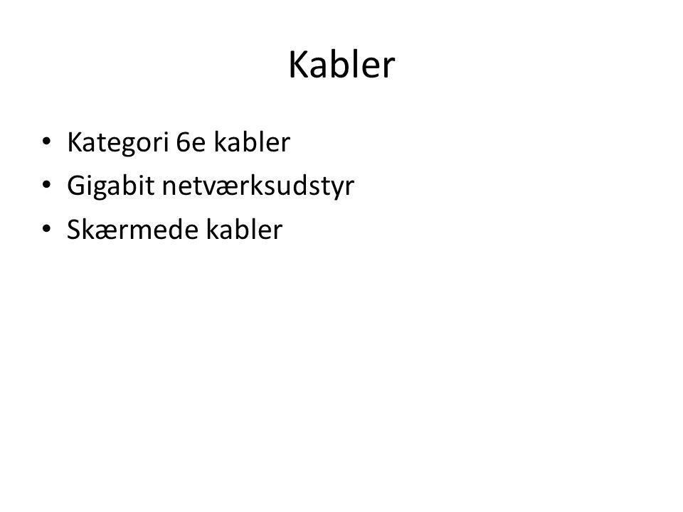 Kabler Kategori 6e kabler Gigabit netværksudstyr Skærmede kabler