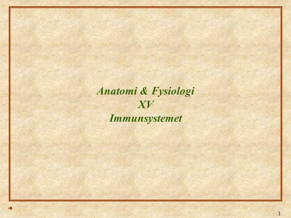 Anatomi & Fysiologi XV Immunsystemet