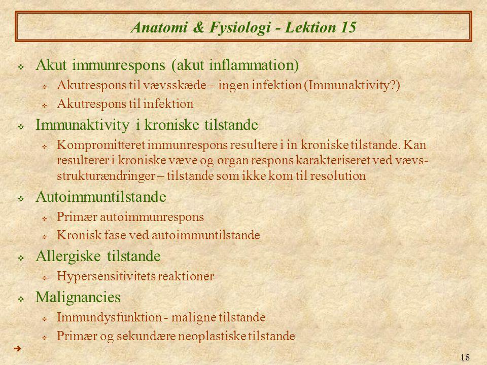 Anatomi & Fysiologi - Lektion 15