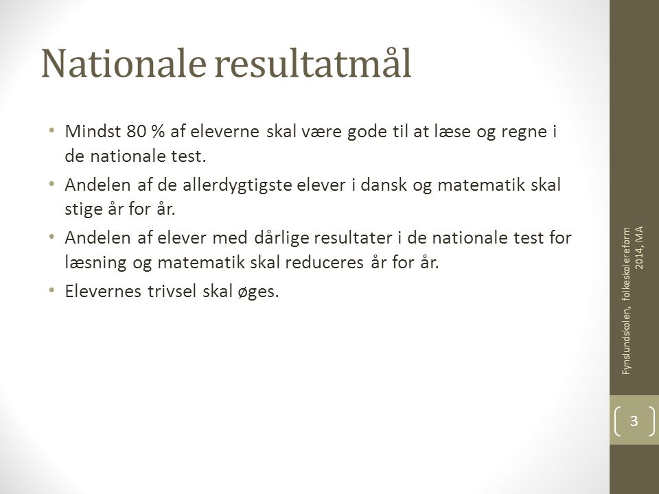 Nationale resultatmål