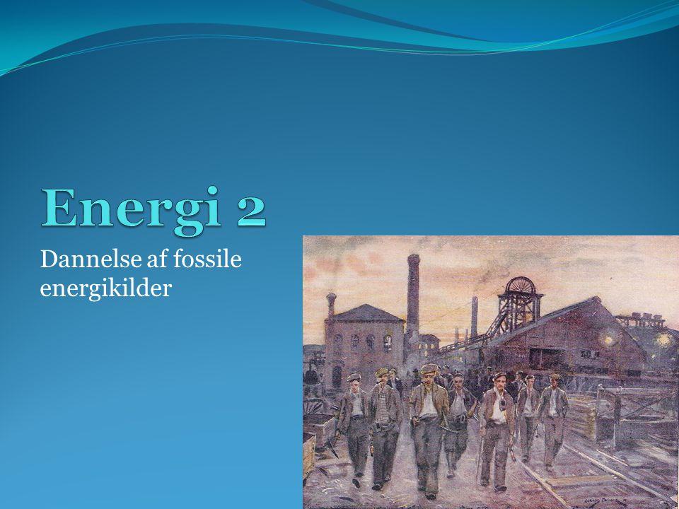 Dannelse af fossile energikilder