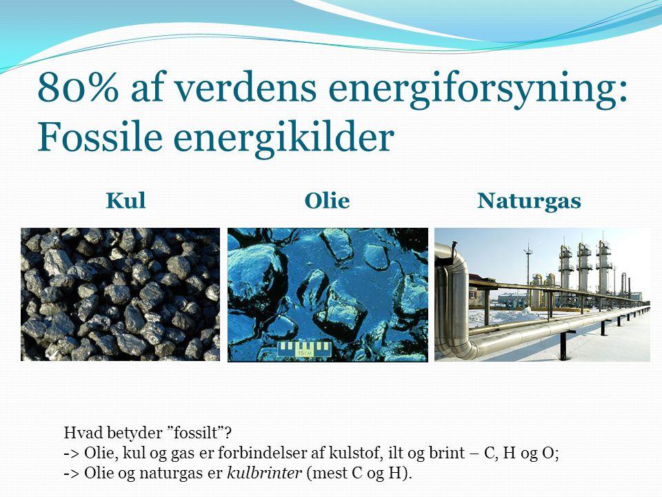 80% af verdens energiforsyning: Fossile energikilder
