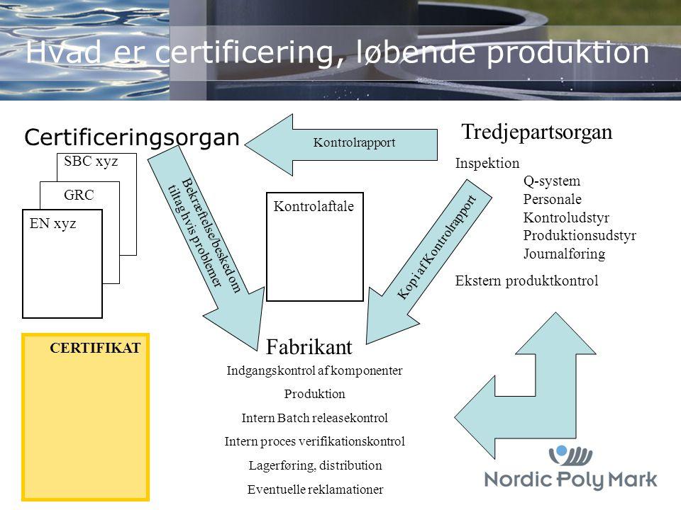 Hvad er certificering, løbende produktion