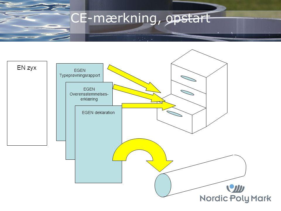 CE-mærkning, opstart EN zyx EGEN Typeprøvningsrapport