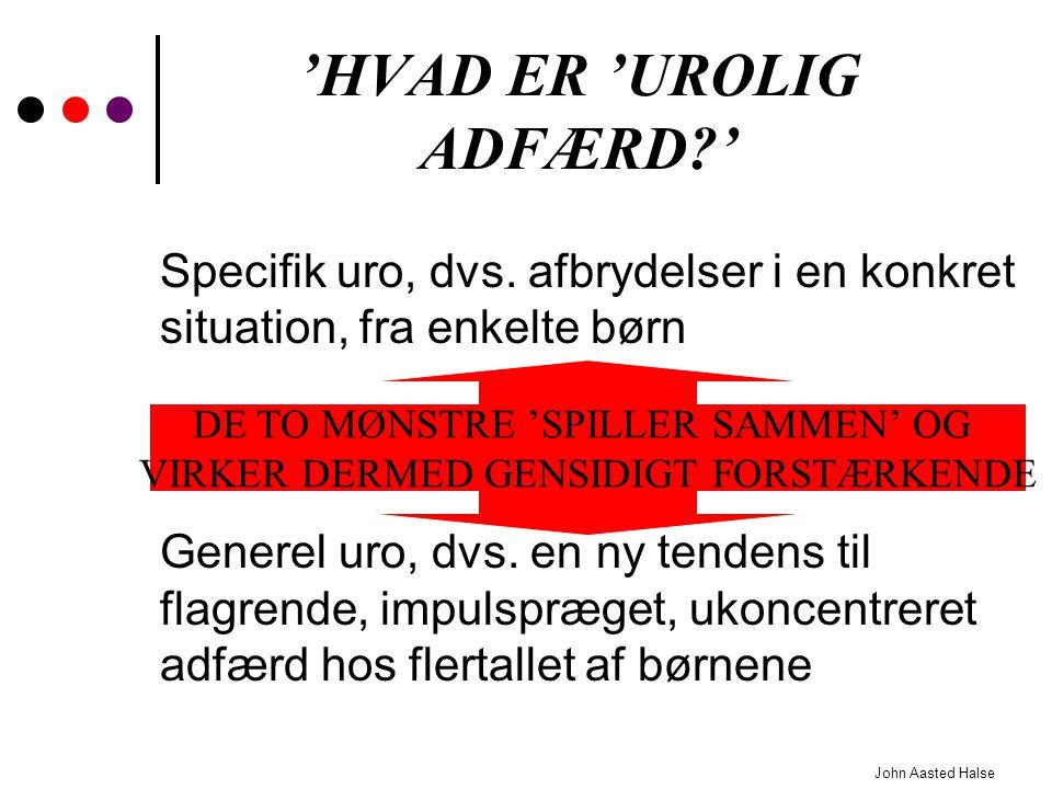 'HVAD ER 'UROLIG ADFÆRD '