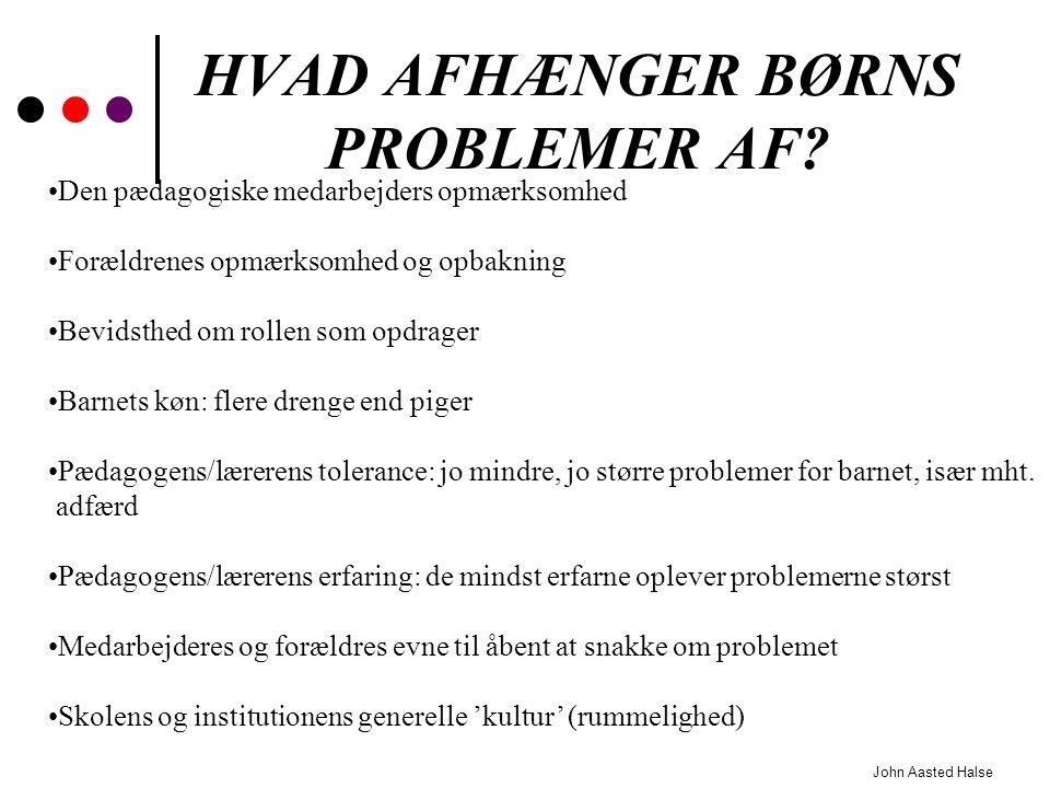 HVAD AFHÆNGER BØRNS PROBLEMER AF