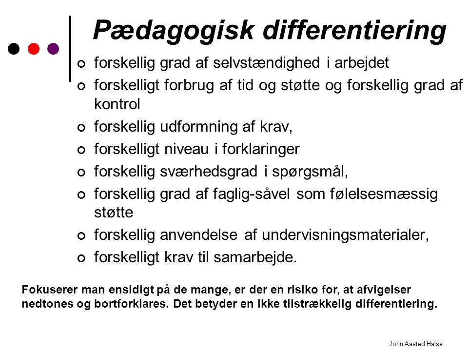 Pædagogisk differentiering