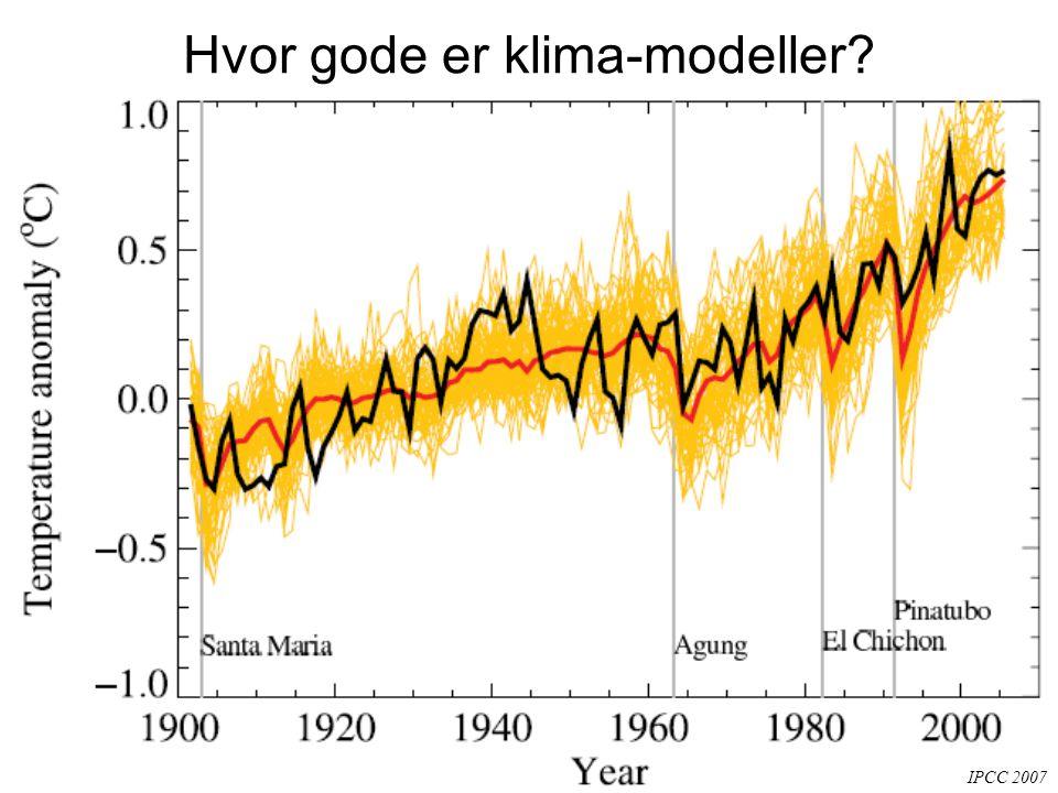 Hvor gode er klima-modeller