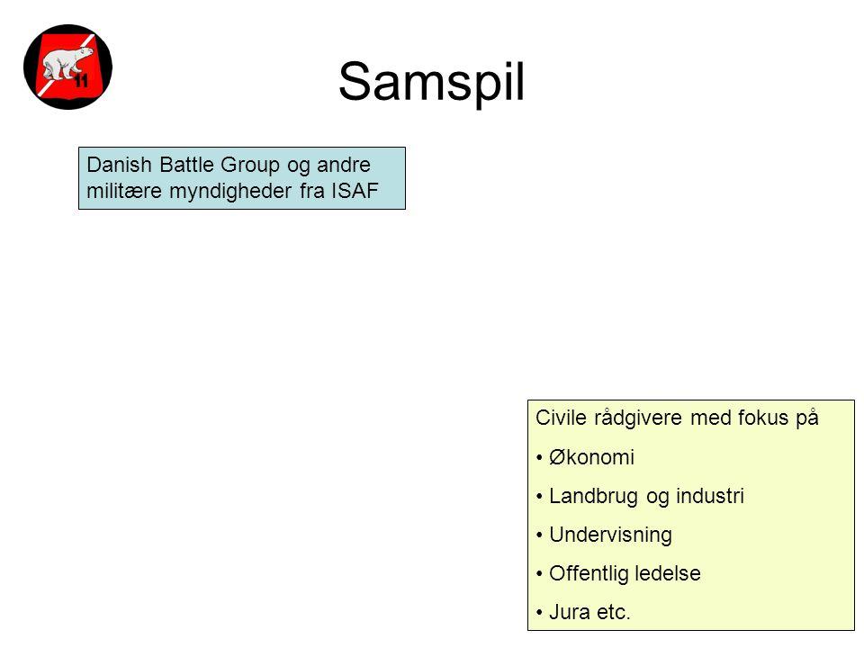 Samspil Danish Battle Group og andre militære myndigheder fra ISAF
