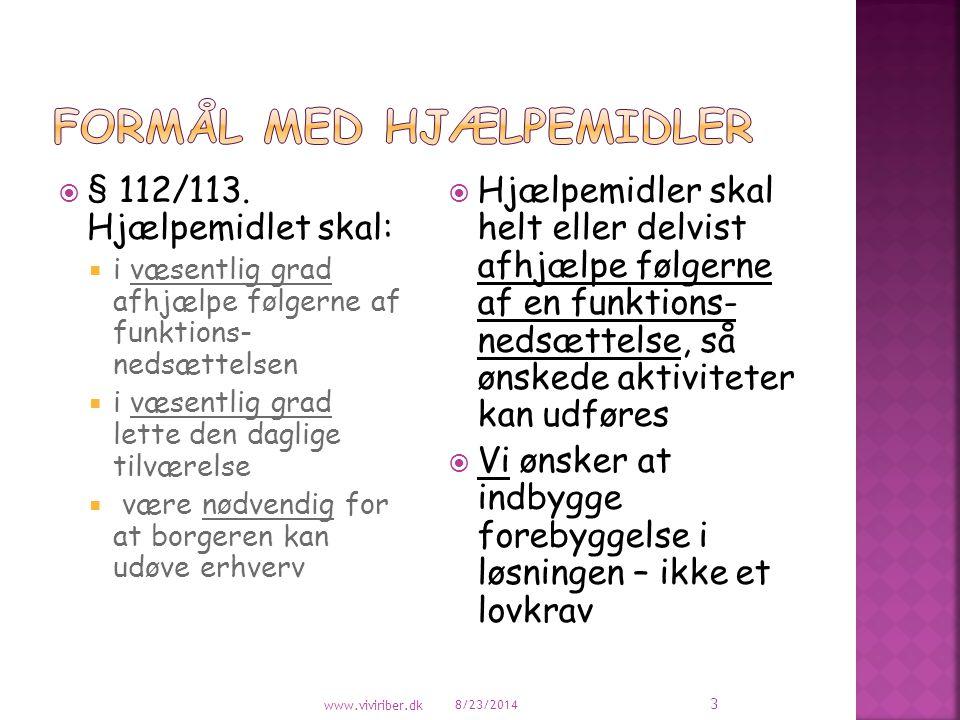 FORMÅL MED HJÆLPEMIDLER