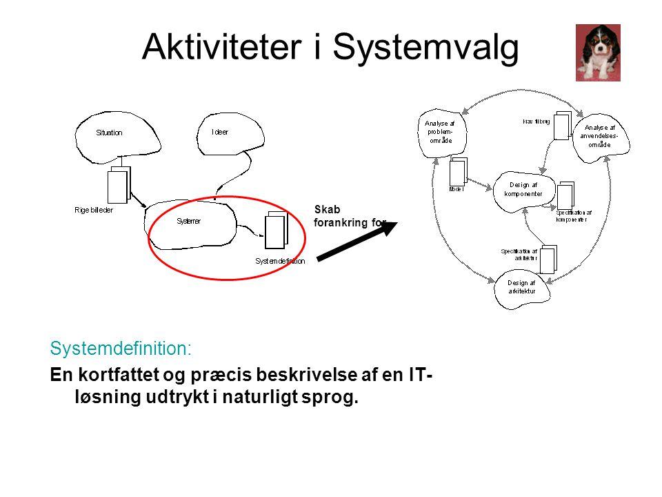 Aktiviteter i Systemvalg