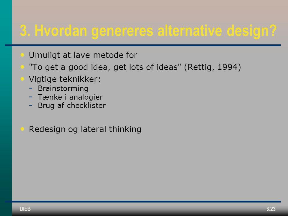 3. Hvordan genereres alternative design