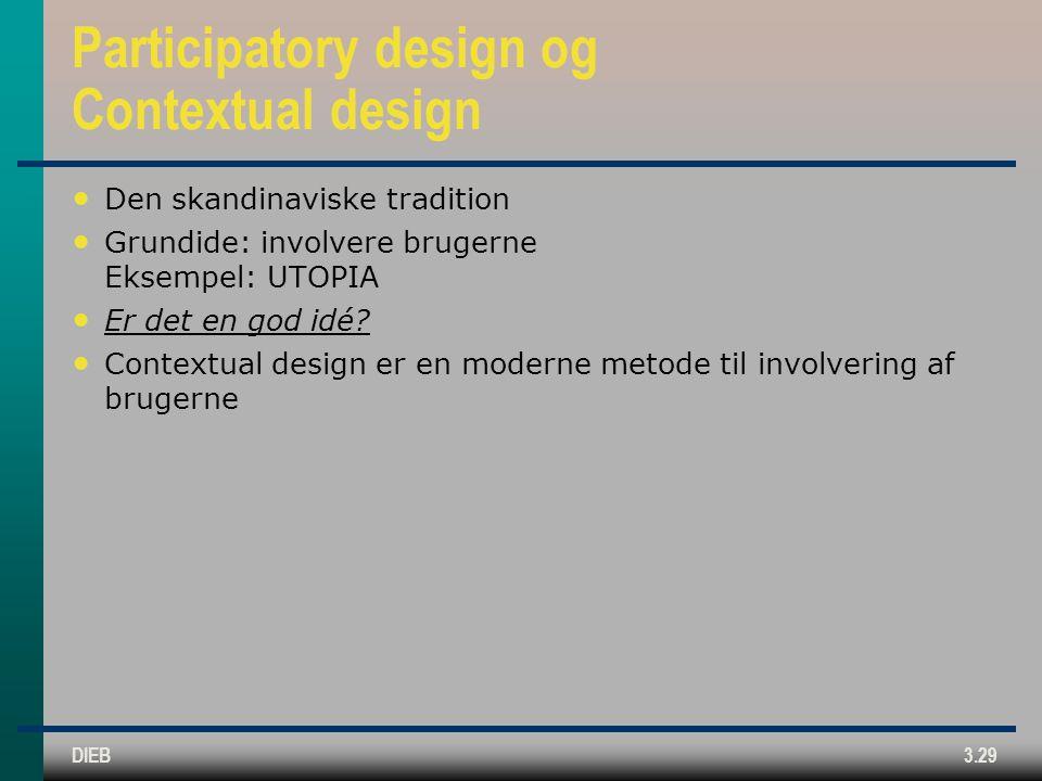 Participatory design og Contextual design