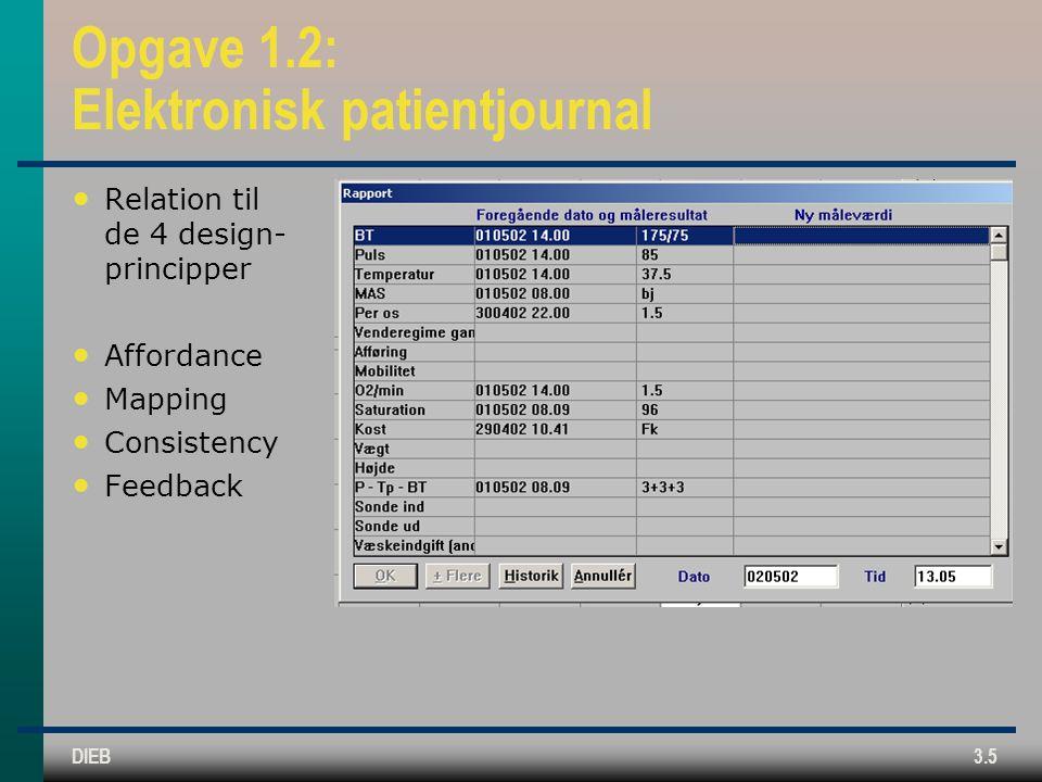 Opgave 1.2: Elektronisk patientjournal
