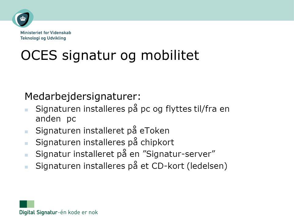 OCES signatur og mobilitet