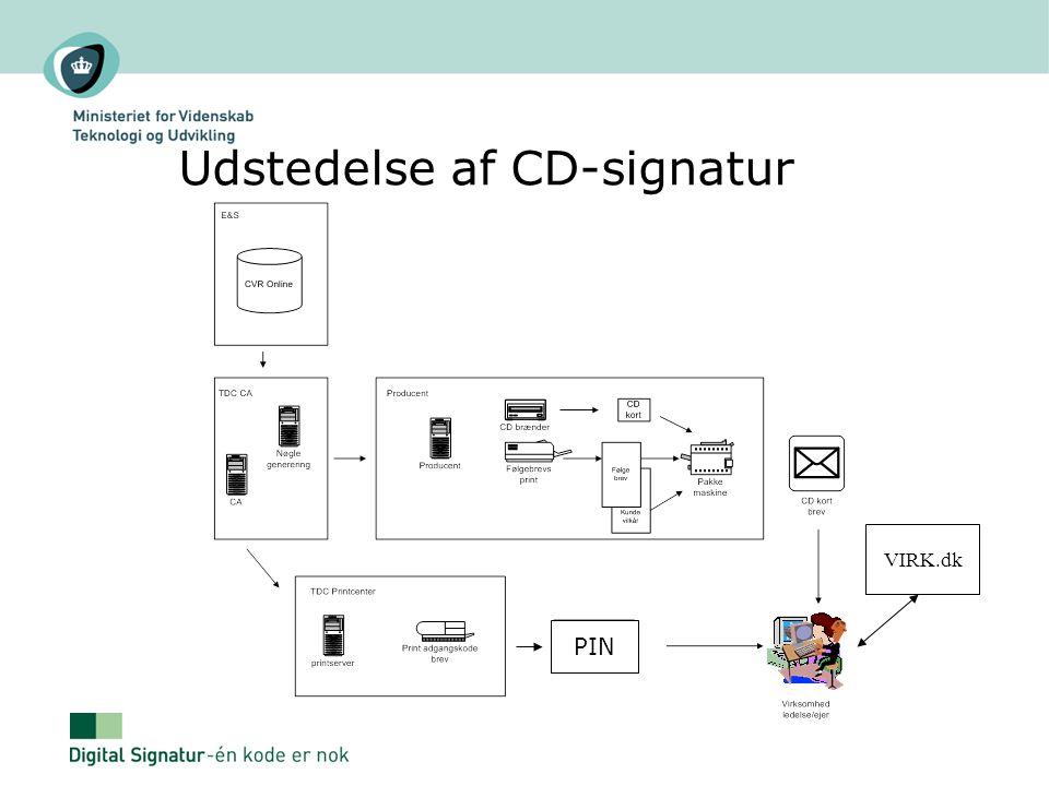 Udstedelse af CD-signatur