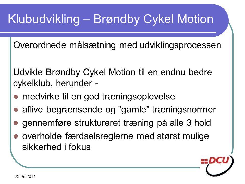 Klubudvikling – Brøndby Cykel Motion